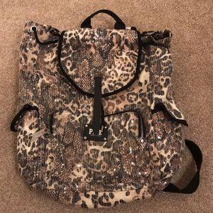 Victoria Secret Pink cheetah backpack